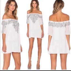 NWOT-For Love & Lemons Sultry Gypsy Dreamer Sicily Off The Shoulder Mini Dress